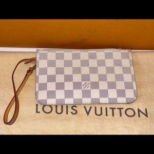 Authentic Louis Vuitton damier Azur pouch pm